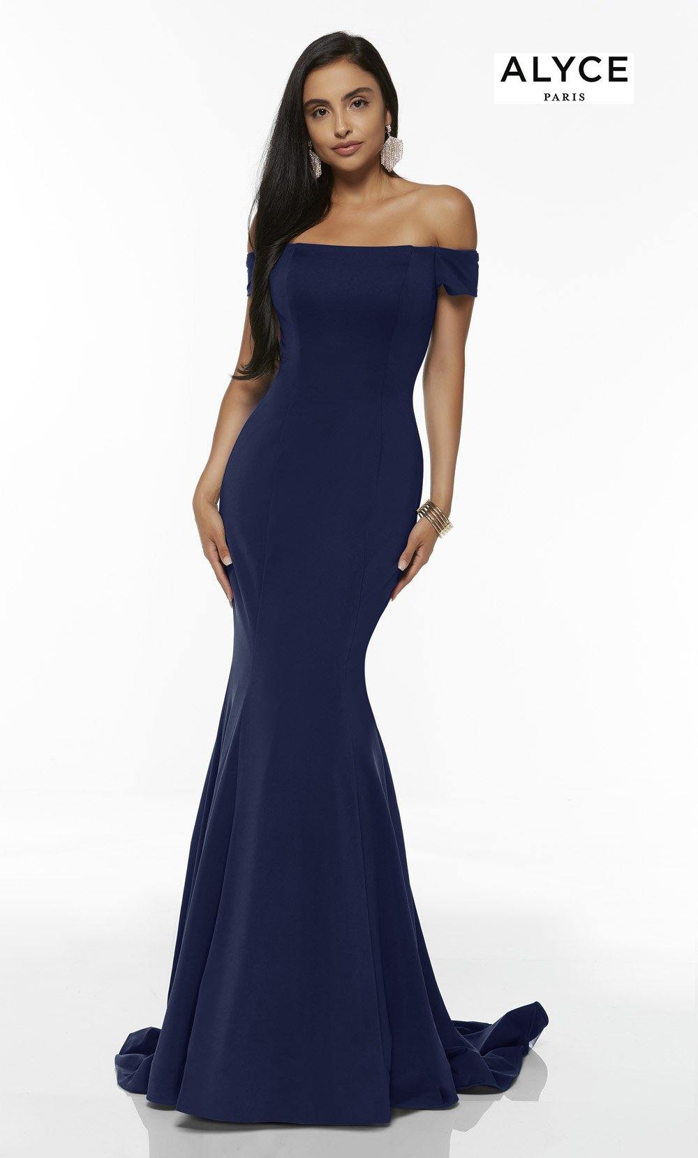 Formal Dress: 60294. Long, Off The Shoulder, Mermaid