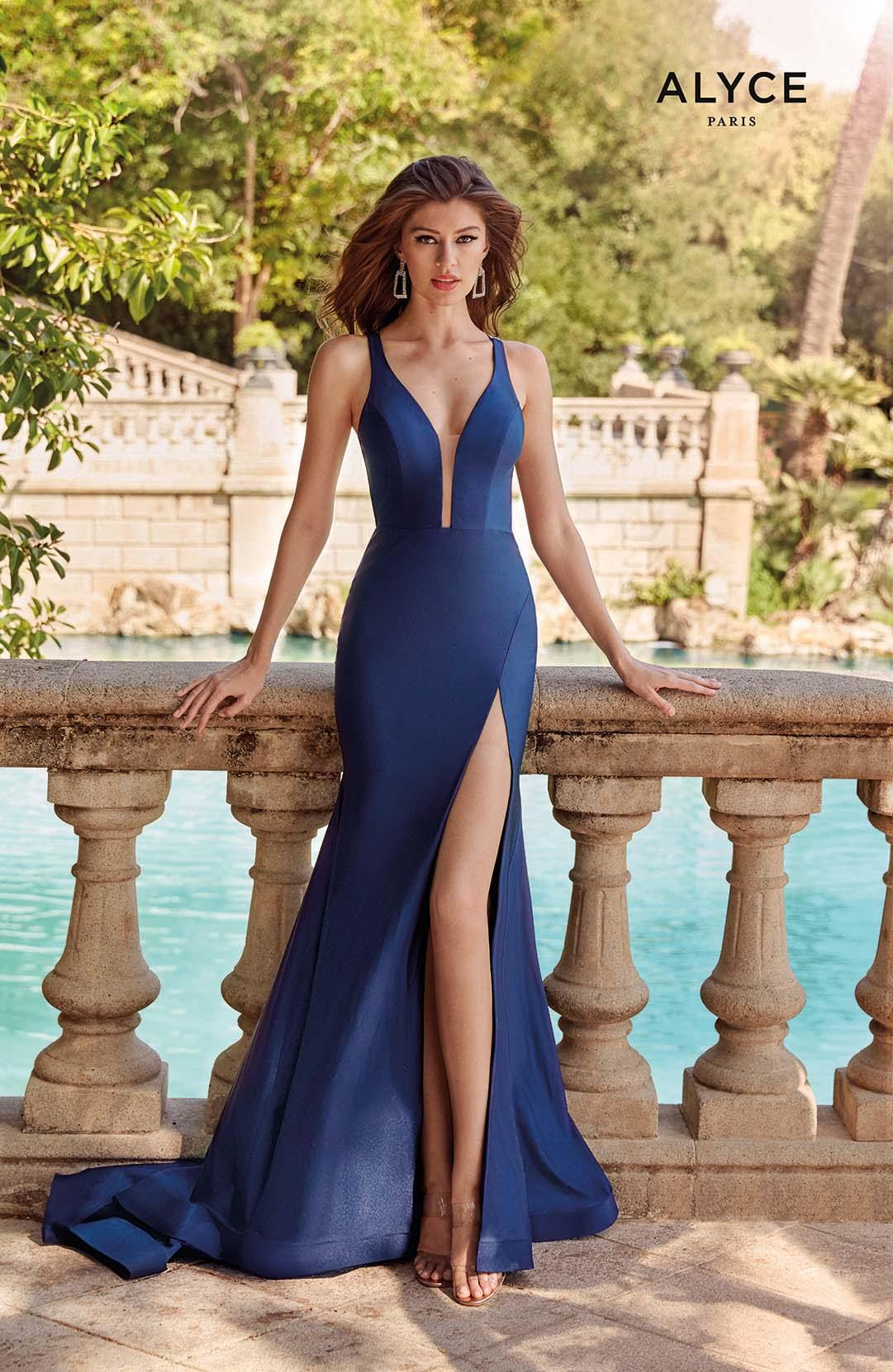 Formal Dress: 60769. Long, Plunging Neckline, Straight