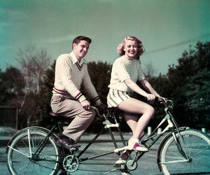 bicycle, built, and clothing image