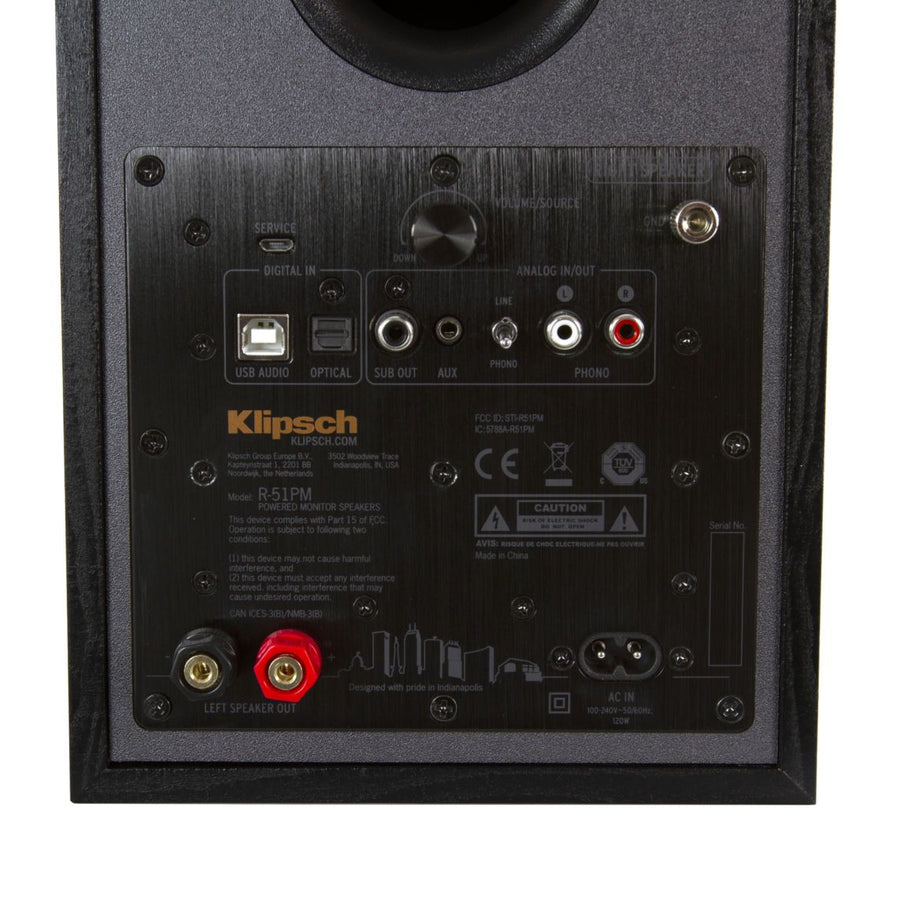 Klipsch R51PM Powered Speakers with Bluetooth and USB (pr)