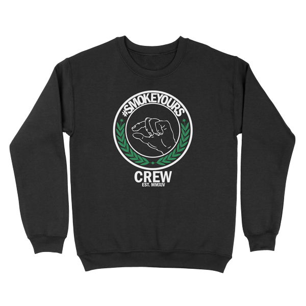 Smoke Yours Black Crewneck