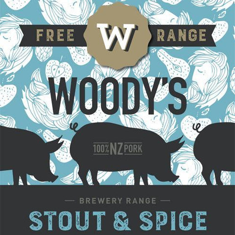 Stout and Spice Sausage, Pork Cuts - Woody's Free Range Farm