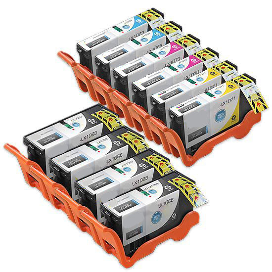 COMPATIBLE -  High Capacity BK, C, M, Y (Bulk Package-4 pcs of Bk, 2pcs each of C,M,Y) Inkjet Cartridges - Combo, 510 YIELD
