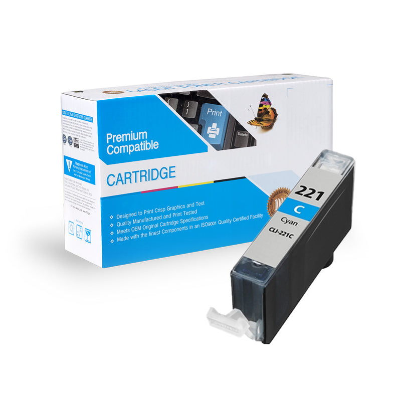 Compatible Canon CLI-221C Ink Cartridge By Express Toner