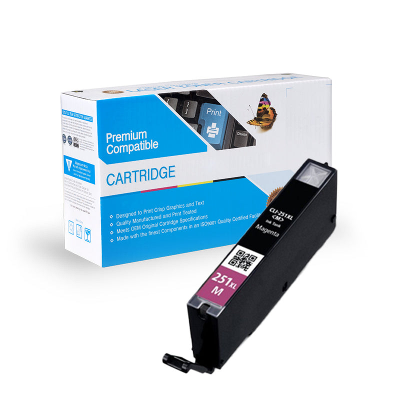 Compatible Canon 6450B001 (CLI-251XL) Magenta Ink Cartridge By Express Toner