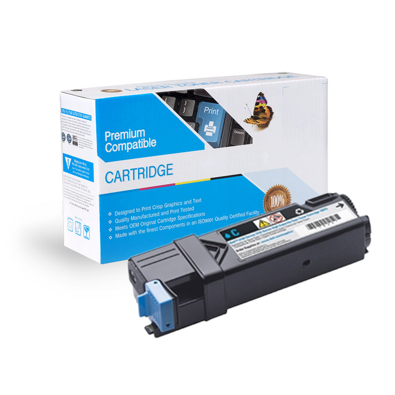 Compatible Dell 2150 / 2155 Cyan Toner Cartridge By Express Toner