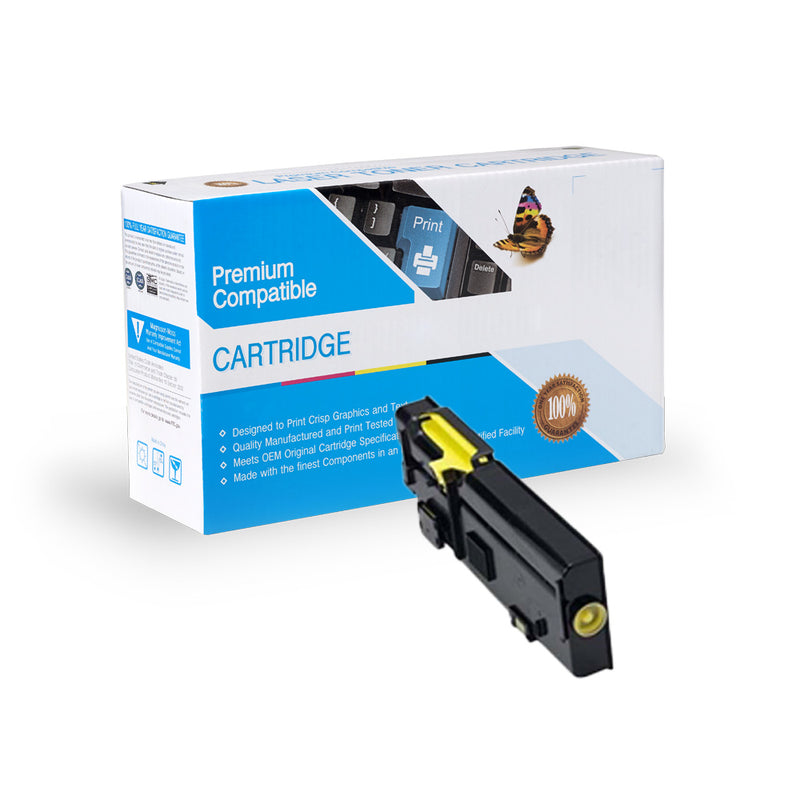 Compatible Dell 593-BBBR/R9PYX High Yield Yellow Toner Cartridge By Express Toner