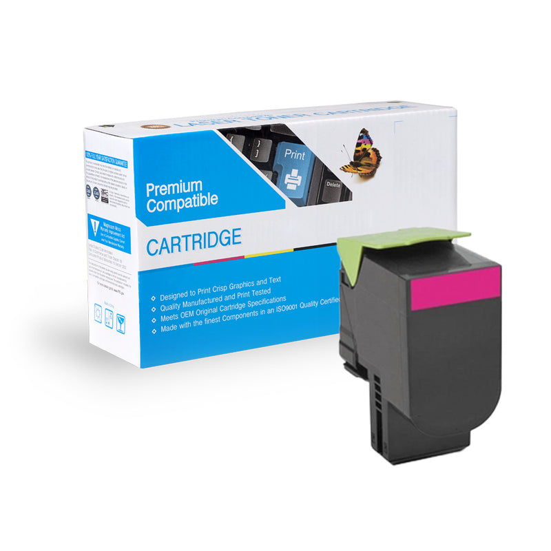 Remanufactured Lexmark 701HM/70C1HM0 Toner- Magenta By Express Toner