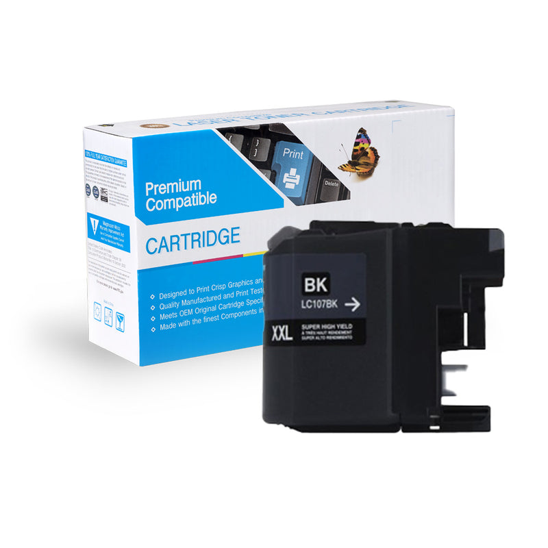 Compatible Brother LC107BK Black Ink Cartridge By Express Toner
