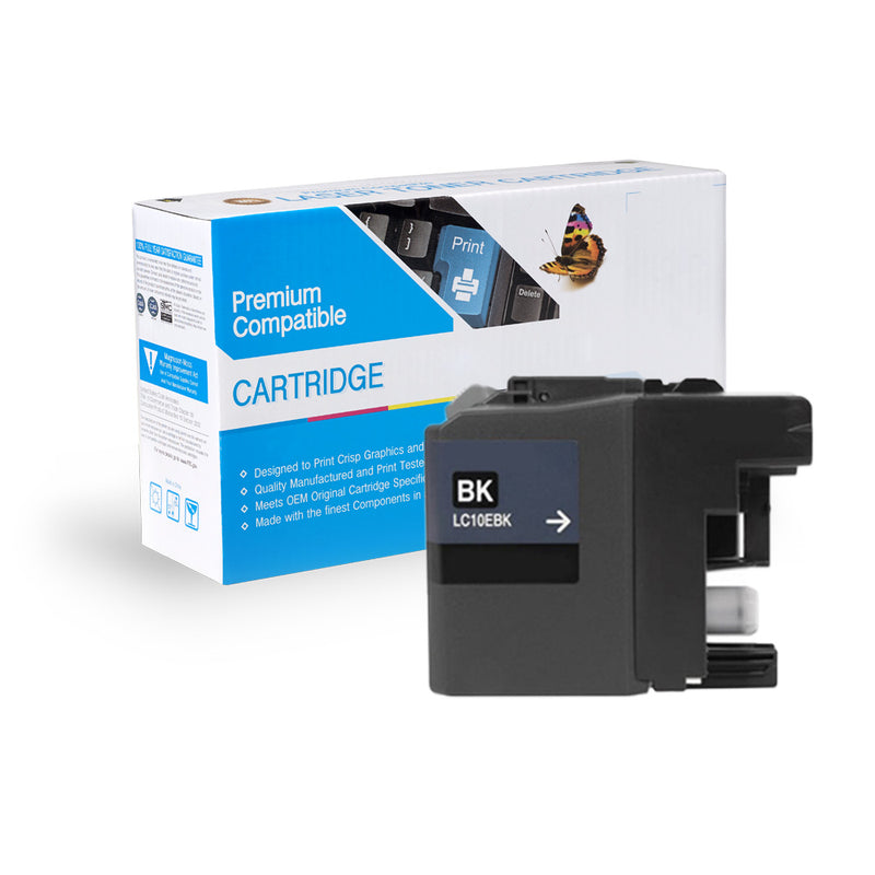Compatible Brother LC10EBK XXL Super HY Inkjet- Black By Express Toner