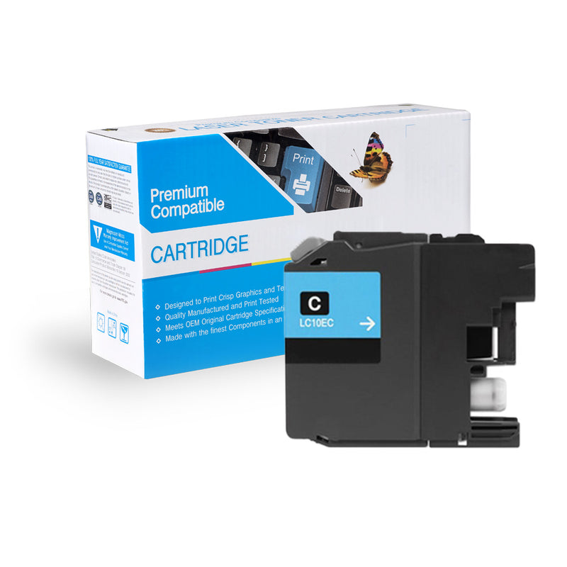 Compatible Brother LC10EC XXL Super HY Inkjet- Cyan By Express Toner