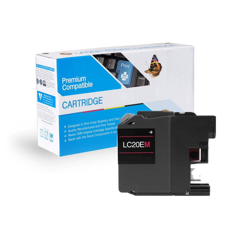 Compatible Brother LC20EM XXL Super HY Inkjet- Magenta By Express Toner