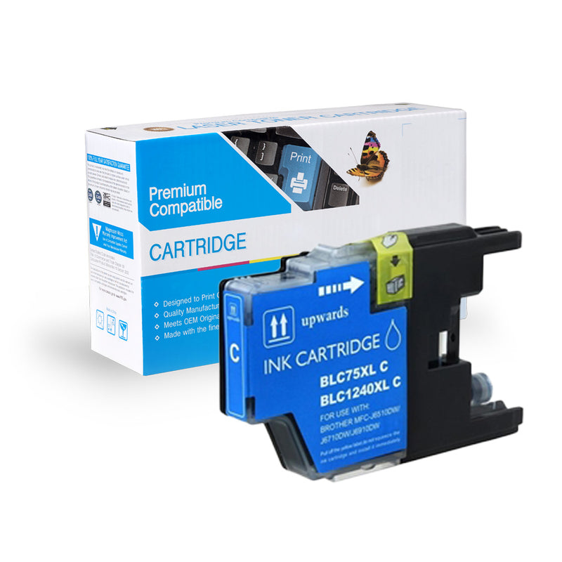 Compatible Brother LC75C Ink Cartridge By Express Toner
