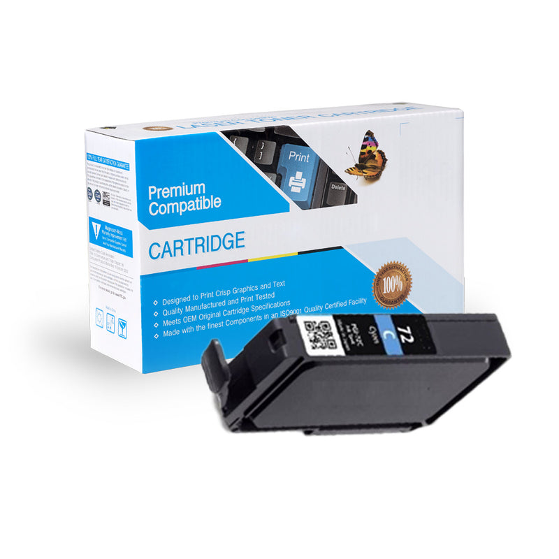 Compatible Canon PGI-72C Cyan Ink Cartridge By Express Toner