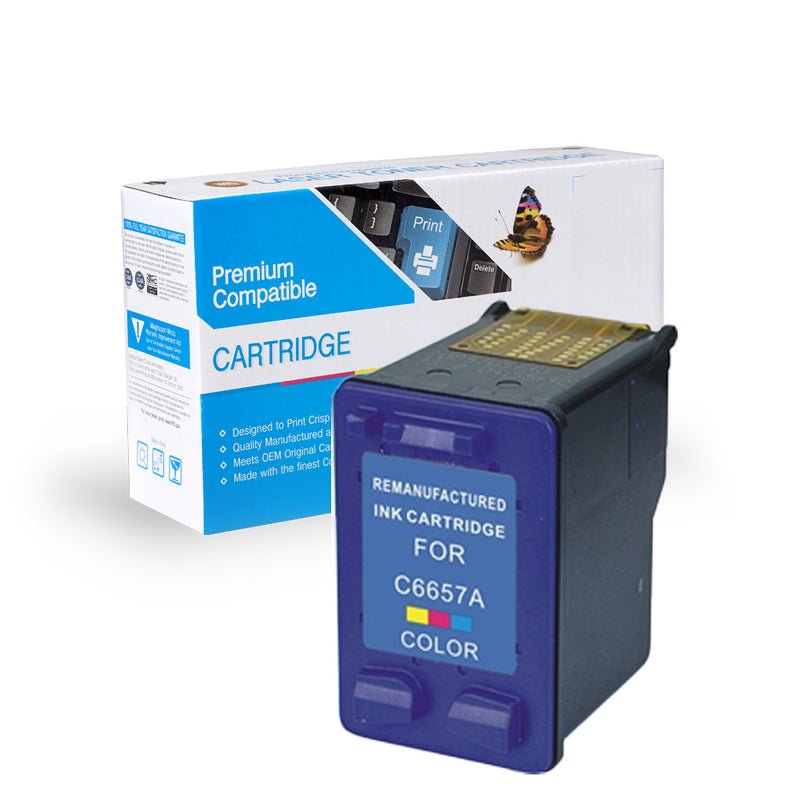 Remanufactured HP C6657A (HP 57) Ink Cartridge By Express Toner