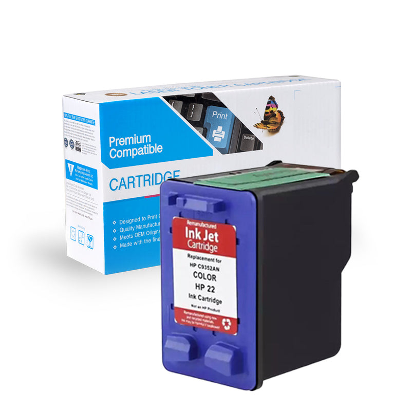 Remanufactured HP C9352A (HP 22) Ink Cartridge By Express Toner