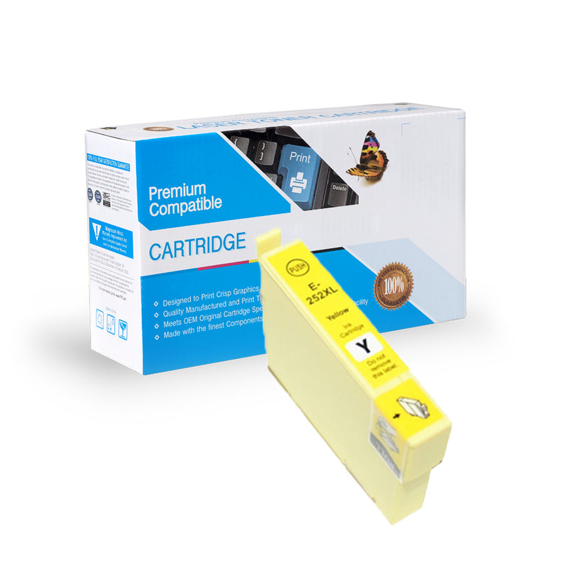 Remanufactured Epson T252XL420 H.Y Inkjet- Yellow By Express Toner