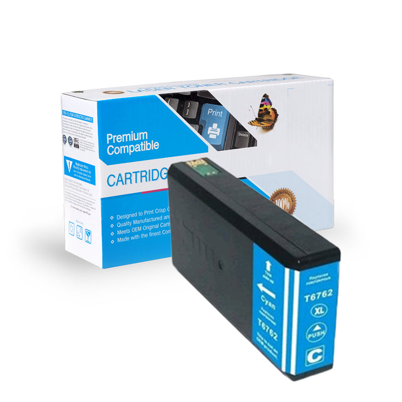 Remanufactured Epson T676XL220 Inkjet- Cyan By Express Toner