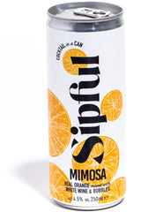 Sipful classic mimosa canned cocktail