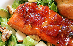 Oven Roasted Salmon with Tomato Jalapeno Marmalade