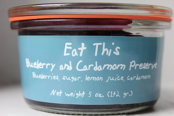 Blueberry and Cardamom Preserve