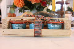 3 Jar Wood Crate Gift Set