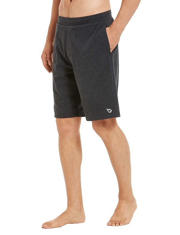 2-in-1 Elastic Waistband Versatile Pocketed Gym Shorts Clothing Lightones Charcoal S
