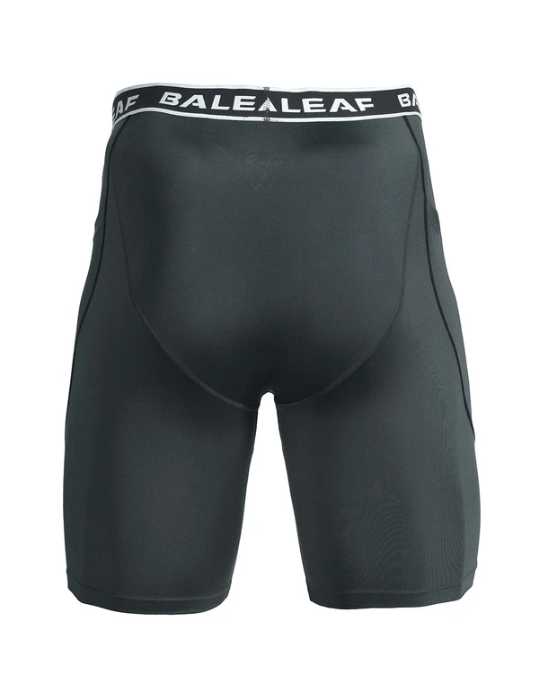 "(2 Pack) 9"" Side-Pocketed Long Compression Shorts Clothing Lightones Black/Navy S"