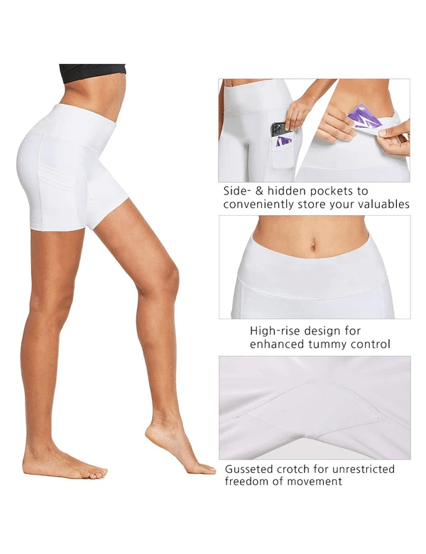 5'' High Rise Butt Lifting Pocketed Yoga & Workout Shorts Clothing Lightones