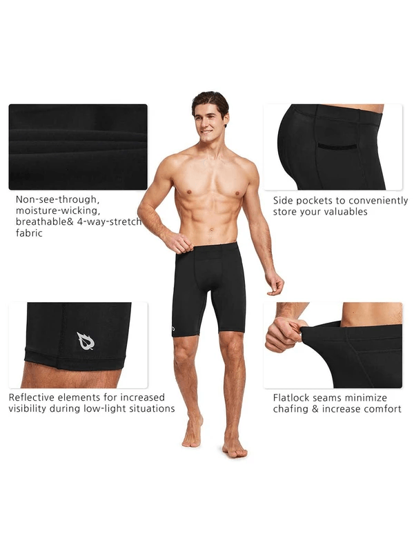 "9"" Compression Pocketed Workout Baselayer Shorts Clothing Lightones"