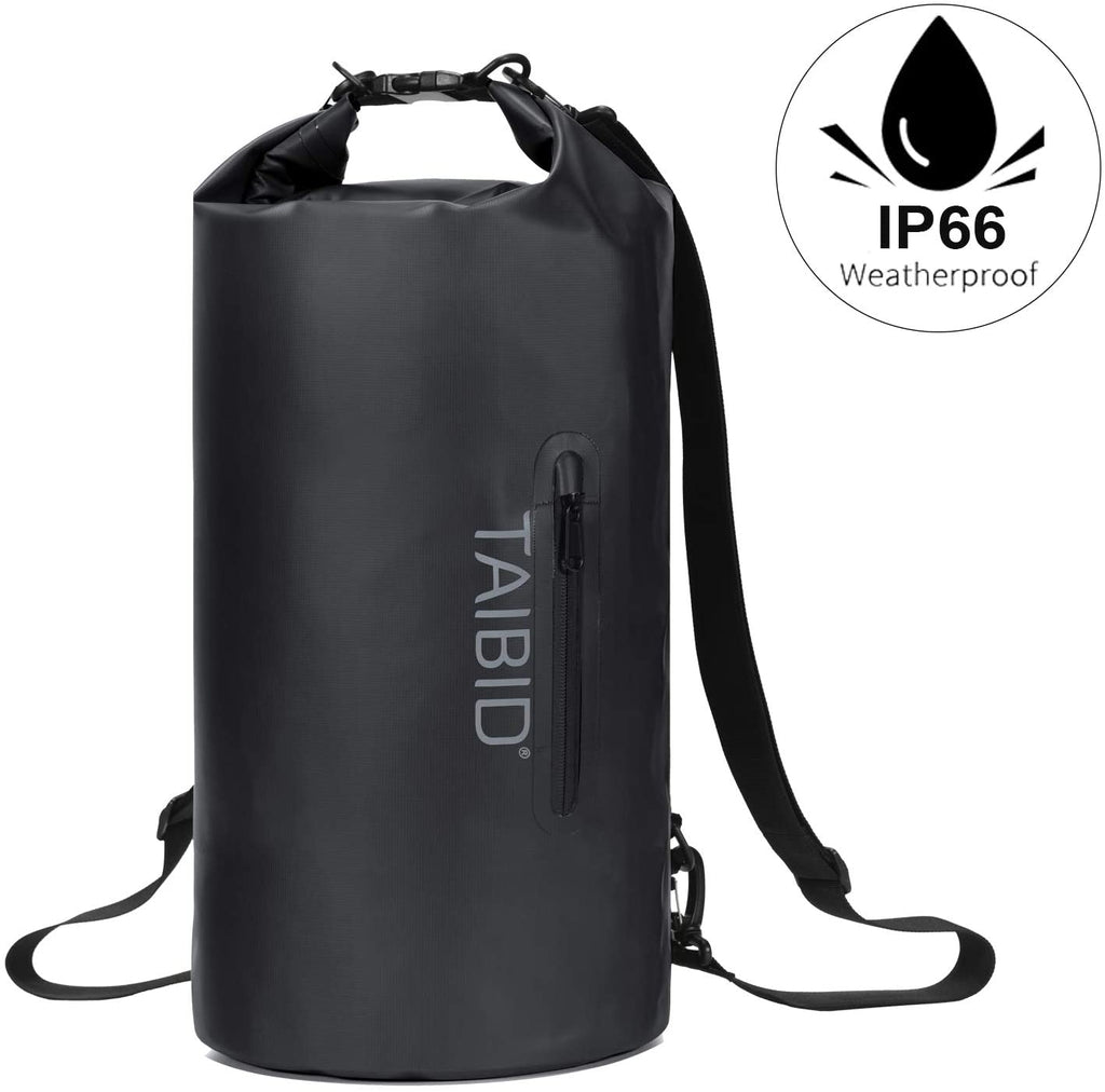age group adult taibid waterproof dry bag, 10l/20l/30l dry bags for boating kayaking swimming with adjustable shoulder strap for camping snorkeling beach hiking water sportsage group adult bag baleaf Black 10L