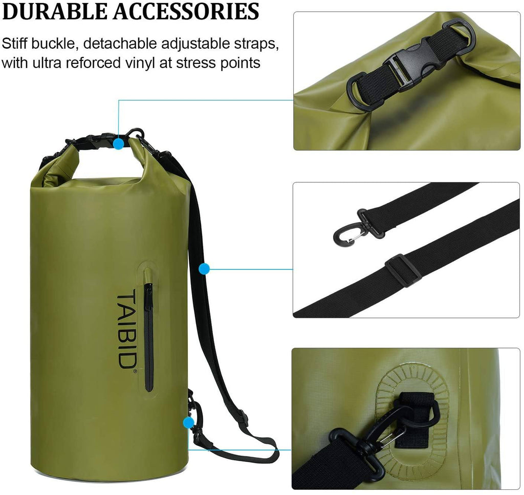 age group adult taibid waterproof dry bag, 10l/20l/30l dry bags for boating kayaking swimming with adjustable shoulder strap for camping snorkeling beach hiking water sportsage group adult bag baleaf