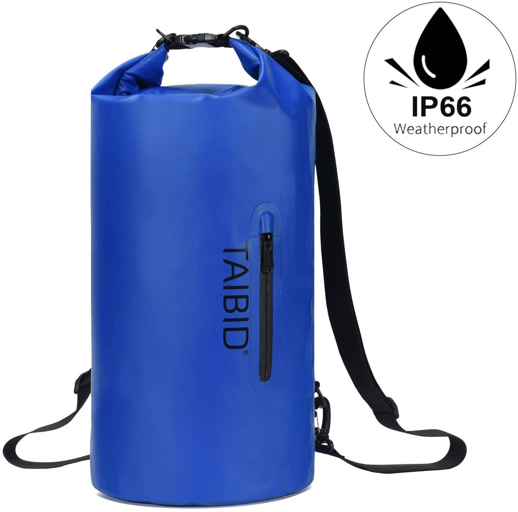 age group adult taibid waterproof dry bag, 10l/20l/30l dry bags for boating kayaking swimming with adjustable shoulder strap for camping snorkeling beach hiking water sportsage group adult bag baleaf Blue 10L