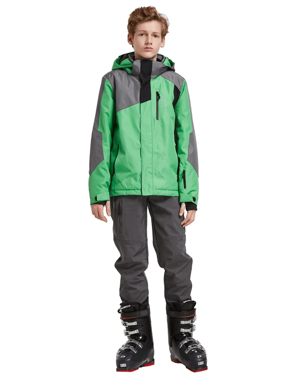 boy's hooded offset design ski- & snowboard winter coat age group kids Clothing baleaf