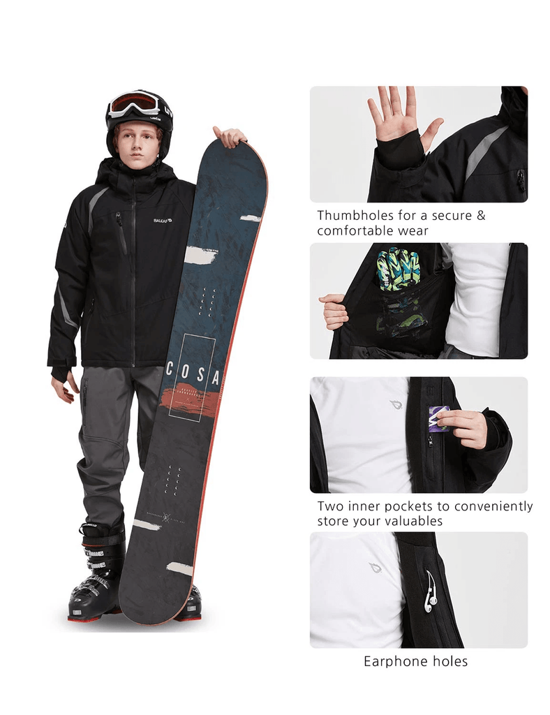 boy's thumb-hole hooded ski- & snowboard winter coat age group kids Clothing baleaf