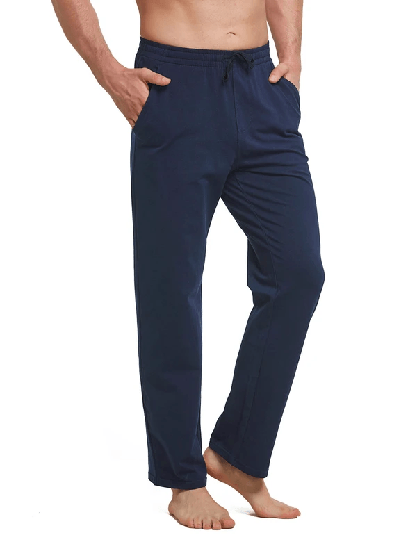 Elastic Waistband Loose Fit Side Pocketed Jogger Pants Clothing Lightones Navy Blue S