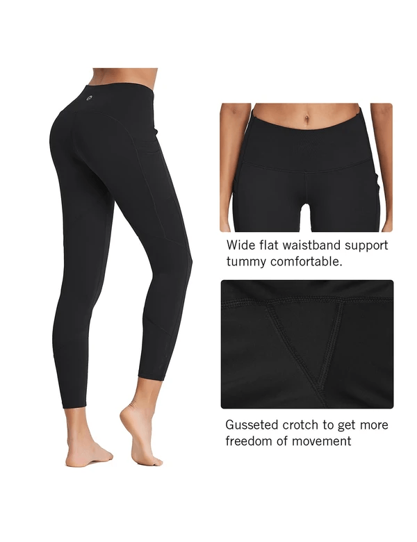 "female 25"" high rise tummy control pocketed leggings age group adult Clothing baleaf"