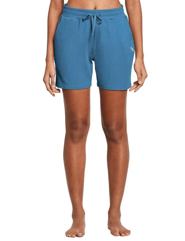 female 5'' activewear cotton pocketed jogger & weekend shorts age group adult Clothing baleaf Copen Blue XS