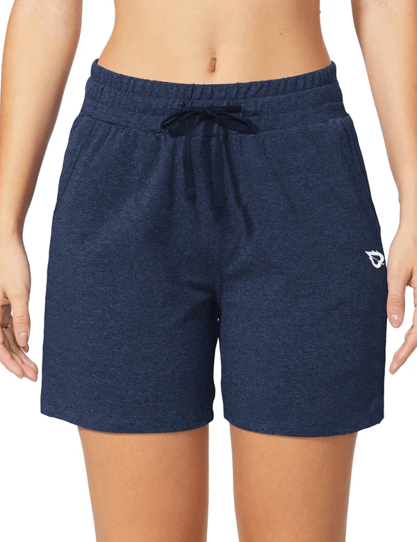 female 5'' activewear cotton pocketed jogger & weekend shorts age group adult Clothing baleaf Navy Heather XS