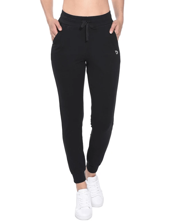 female cotton comfy pocketed & tapered weekend joggers age group adult Clothing baleaf Black XS