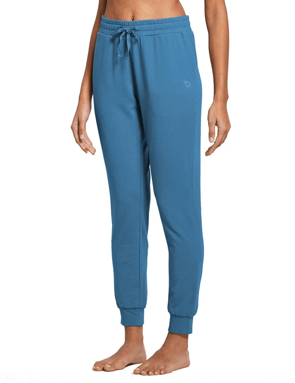 female cotton comfy pocketed & tapered weekend joggers age group adult Clothing baleaf Copen Blue XS