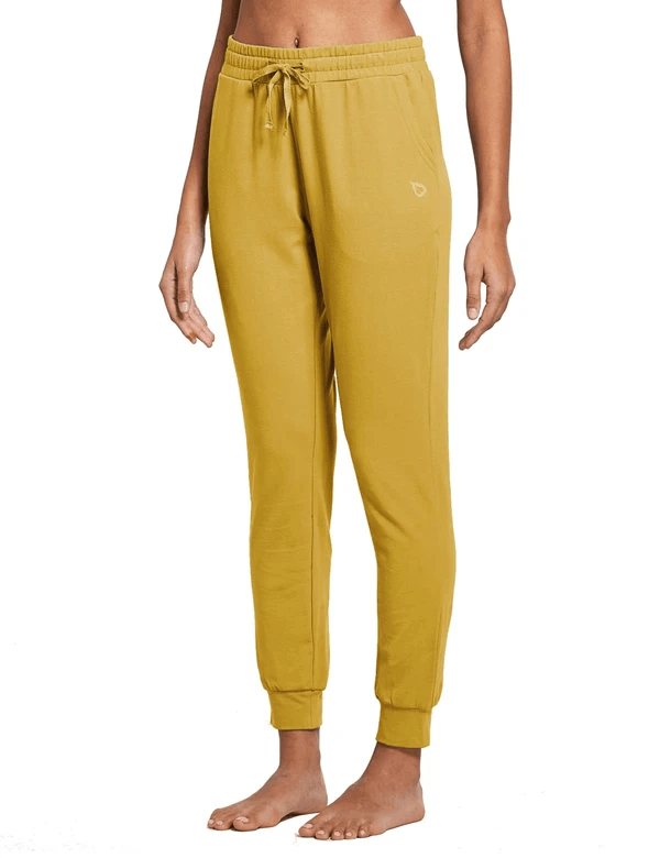female cotton comfy pocketed & tapered weekend joggers age group adult Clothing baleaf Misted Yellow XS