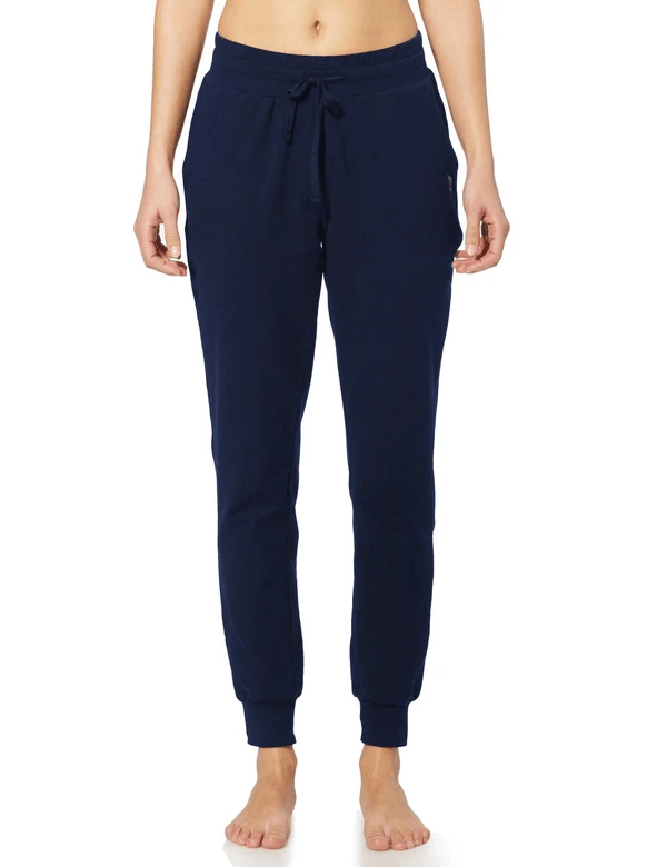 female cotton comfy pocketed & tapered weekend joggers age group adult Clothing baleaf Navy Blue XS