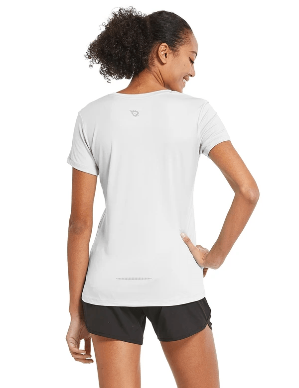 female crew neck comfort fit longer back hem workout t-shirt age group adult Clothing baleaf