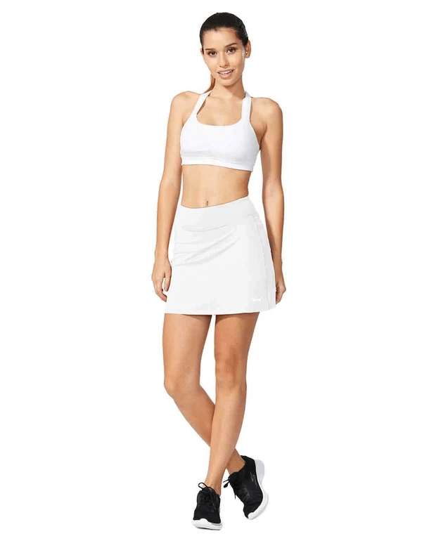 "female mid-rise 4.4"" 2-in-1 pocketed gym & outdoor sports skirt age group adult Clothing baleaf"