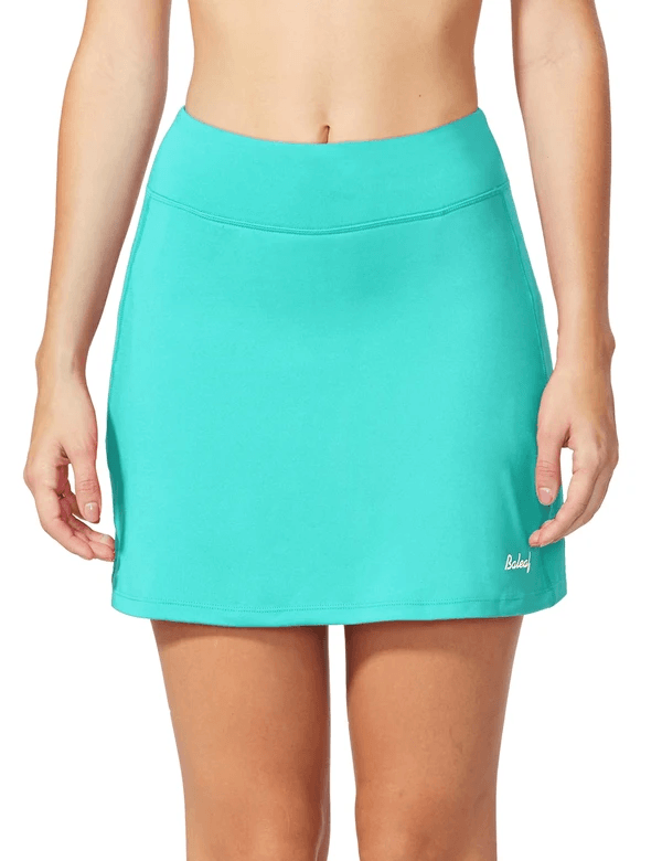 "female mid-rise 4.4"" 2-in-1 pocketed gym & outdoor sports skirt age group adult Clothing baleaf Mint Green XS"