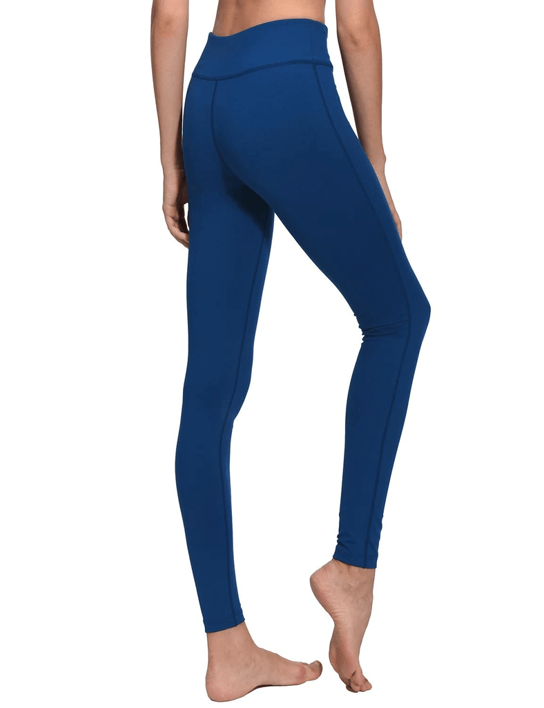 female mid-rise solid color hidden pocket knitted leggings age group adult Clothing baleaf