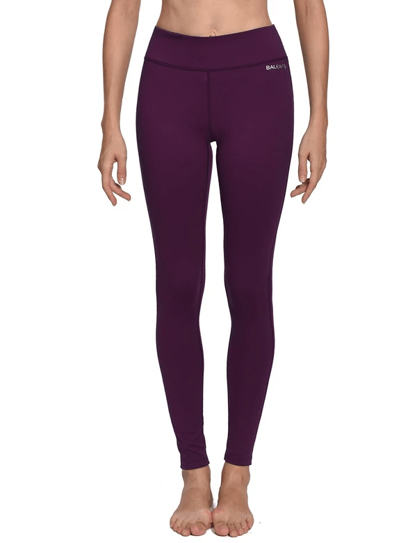 female mid-rise solid color hidden pocket knitted leggings age group adult Clothing baleaf Dark Magenta XS