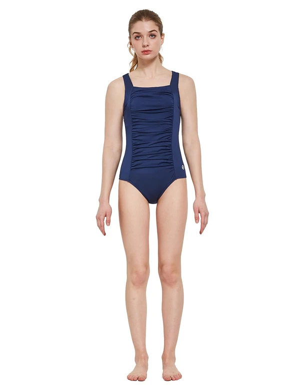 female ruched front quick-dry one piece bathing suit age group adult Clothing Lightones