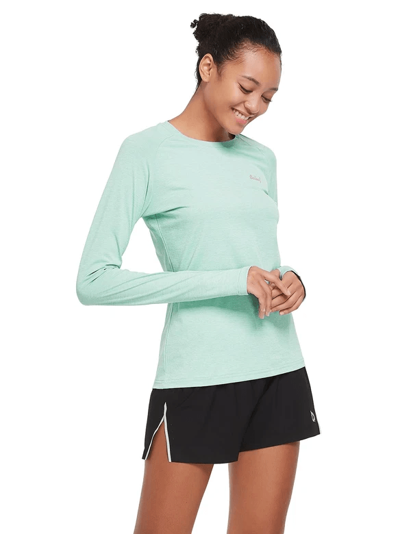 female upf 50+ raglan quick dry seamless long sleeved shirt age group adult Clothing baleaf